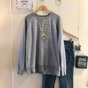 GAP grey marled heavy weight sweatshirt
